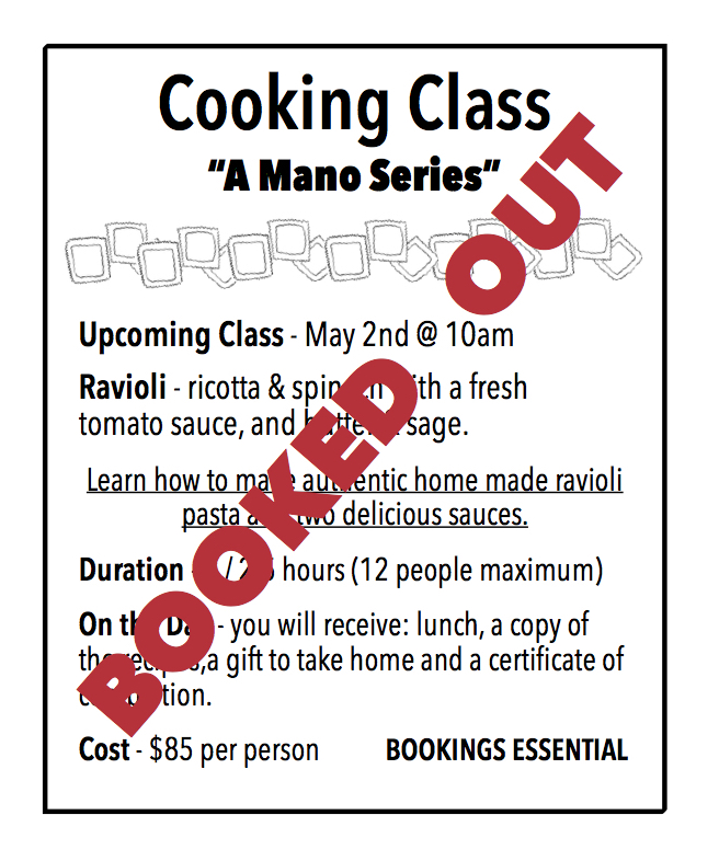 Cooking Class - ravioli - sold out